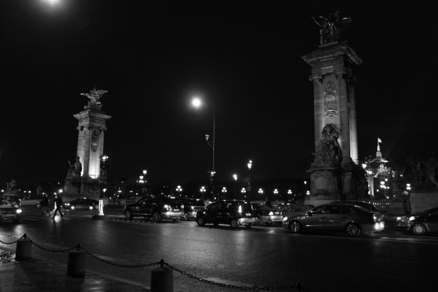 Paris Street Night 120410 BW